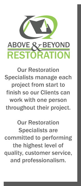 Our Restoration Specialists manage projects from start to finish
